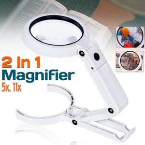 Folding Magnifier Reading Lamp