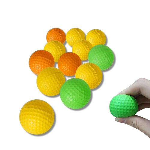12 pcs Foam Indoor Practice Golf Ball