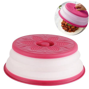 2 in 1 Collapsible Microwave Food Cover