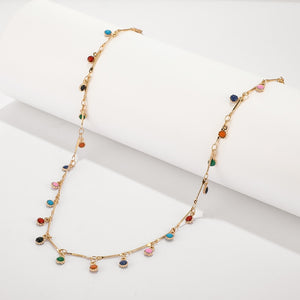 Handmade Colorful Stone Necklace