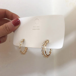 Crystal Hoop Eternal Earrings