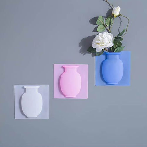 Wall Decor Sticky Silicone Vase