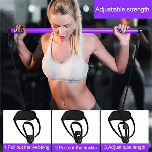 Pilates Stick Bar with Resistance Bands