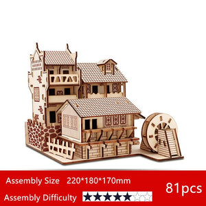 DIY 3D Wooden Famous Tourist Sightseeing Places