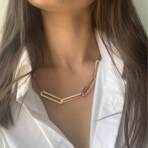 Chic Gold Plated Chain Necklace