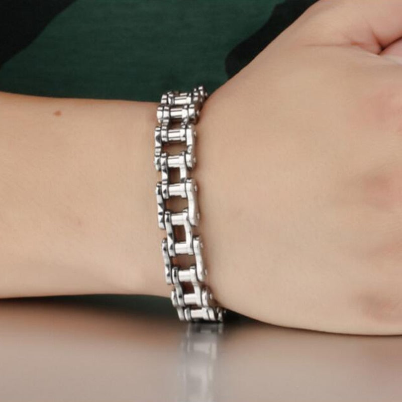 Biker's Fashion Stainless Steel Bracelet
