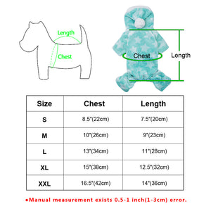 Winter Pet Cat and Dog Jumpsuit-Clothes for Small Sized Cat and Dog, Dog Sweaters