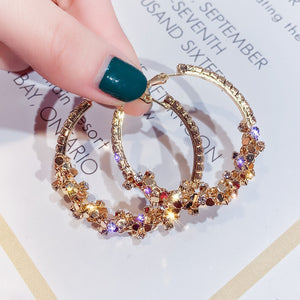 Round Hoop Gold Plated Earrings
