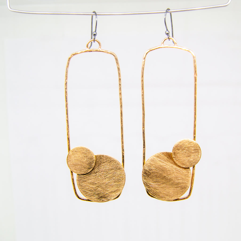 Golden Bronze Link Earrings