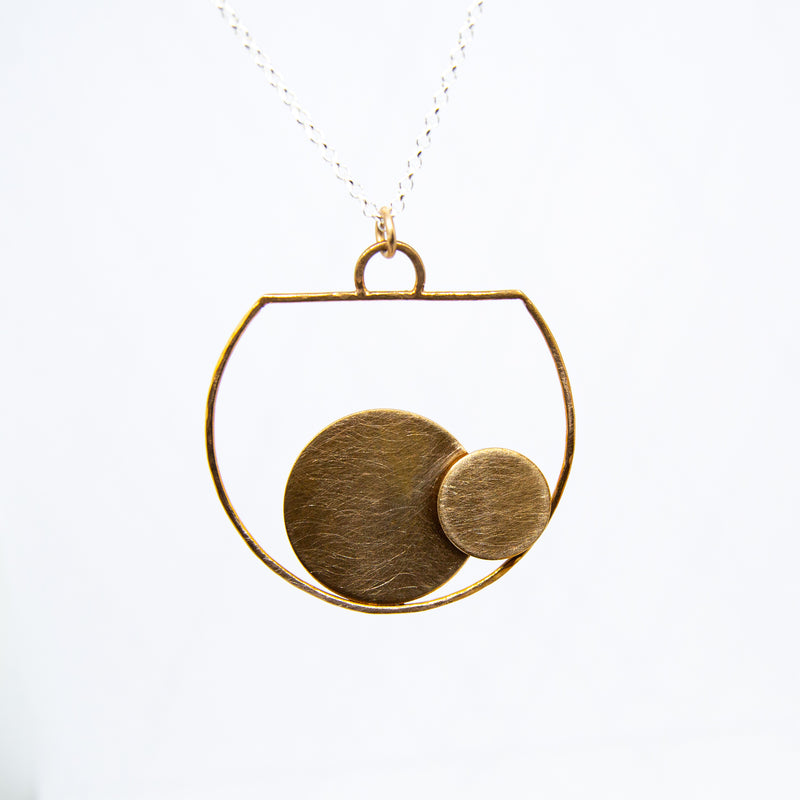 Golden Bronze Vessel Pendant