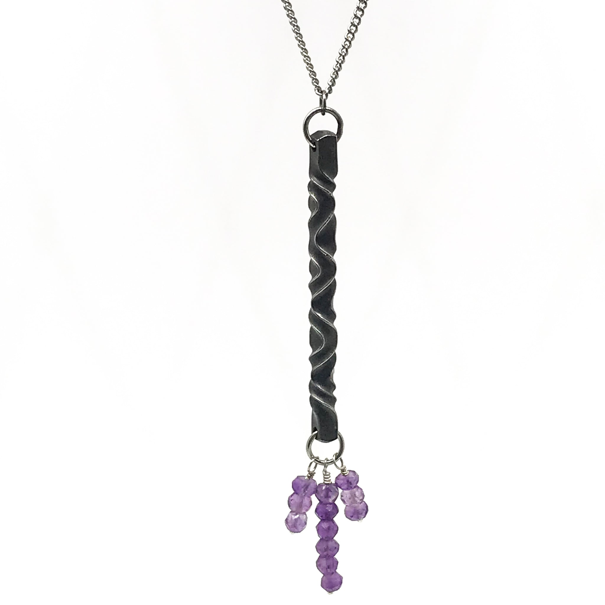 Iron Blossom Amethyst  Pendant and Bracelet