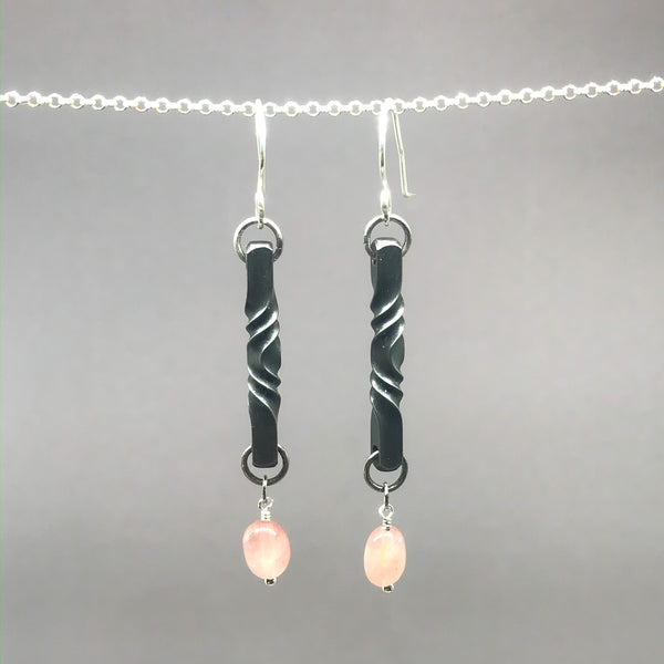 Rose Quartz Iron Twist Blossom Set