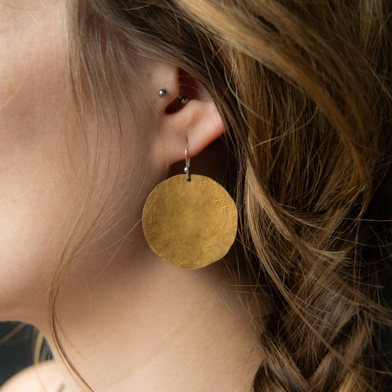 Ra Coin Earrings