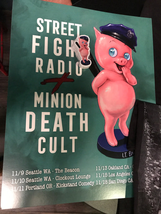 Street Fight Radio x Minion Death Cult Poster