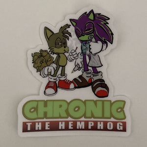 "3"" clear chronic Sticker"