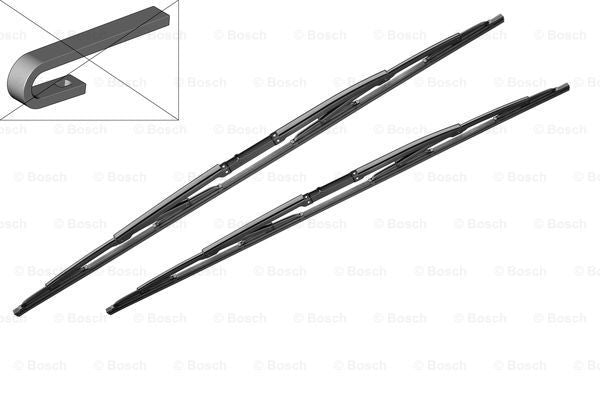 Genuine Bosch BMW Windscreen Wiper Blade Set