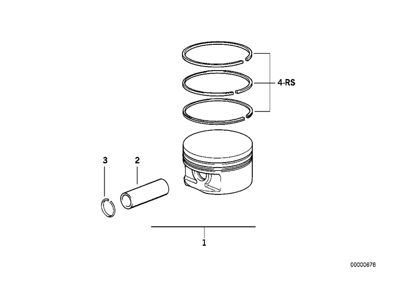 Genuine BMW Piston Ring Set
