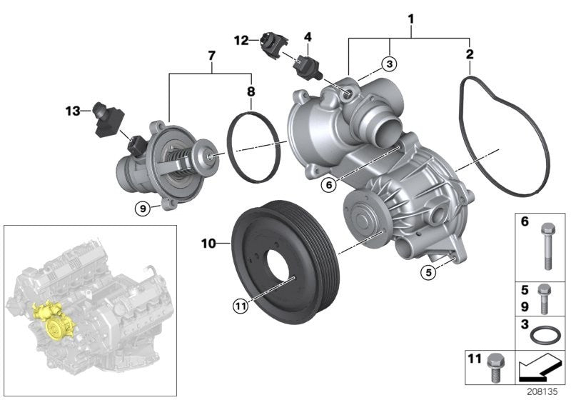BMW Water Pump Pulley