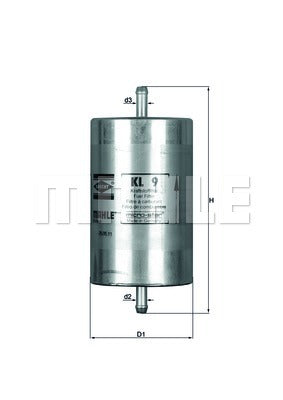 Genuine Mahle BMW Fuel Filter In Line