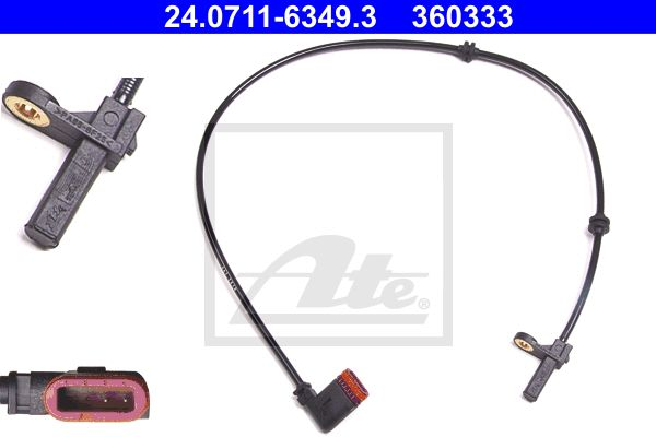 Genuine Ate Mercedes-Benz ABS Wheel Speed Sensor Rear