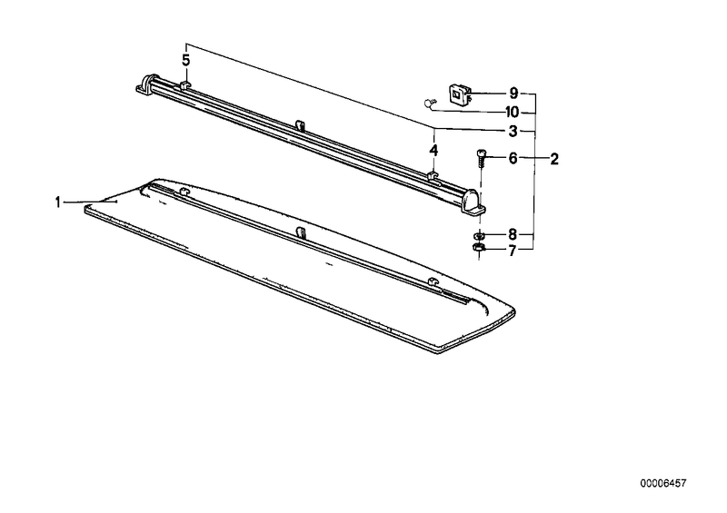 Genuine BMW Rear Window Shelf with Blind