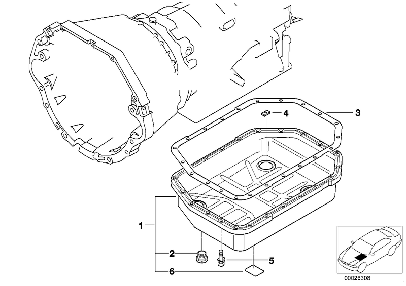 BMW Automatic Transmission Oil Pan Gasket