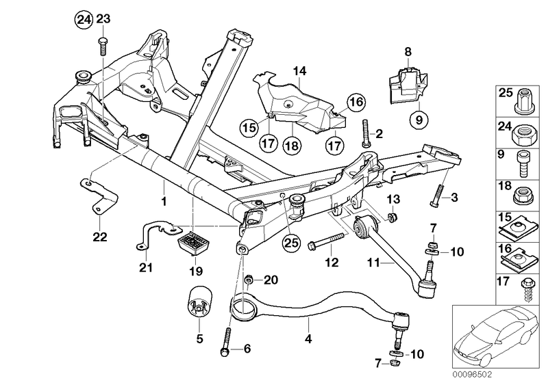 BMW Front Axle Track Control Arm Suspension Kit