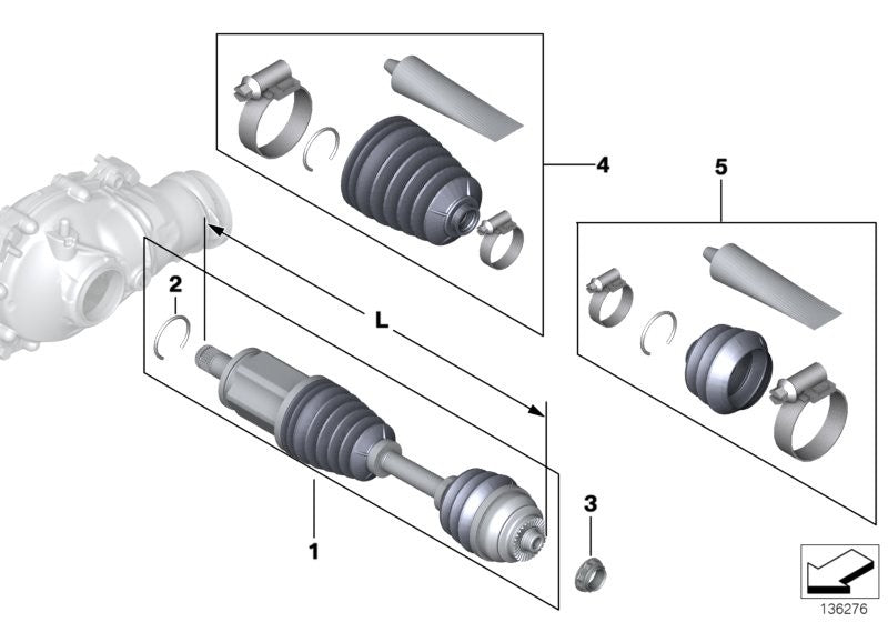 Genuine BMW CV Joint Boot Set