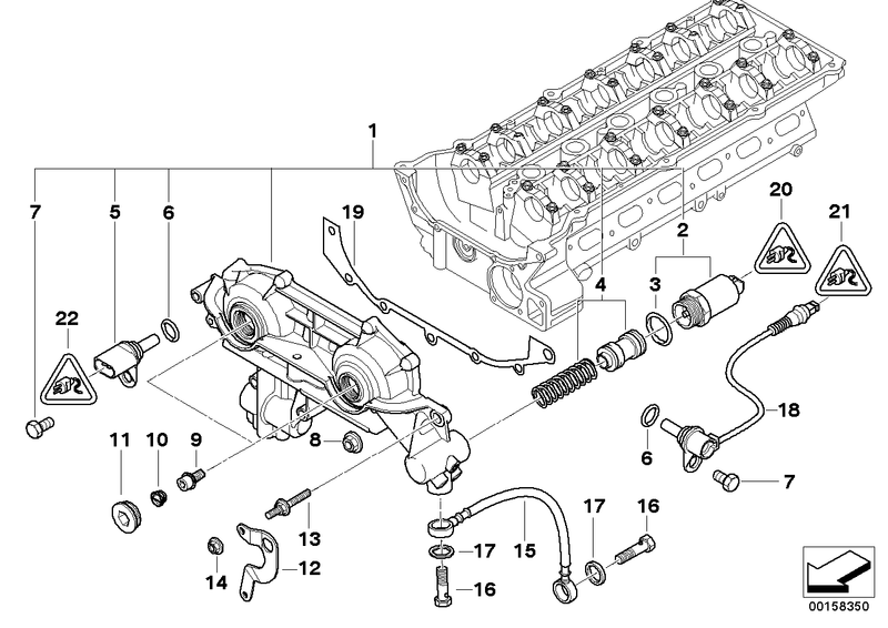 BMW Crankshaft Pulse Position Sensor