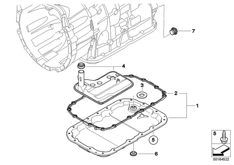 BMW Automatic Transmission Oil Pan Seal Gasket