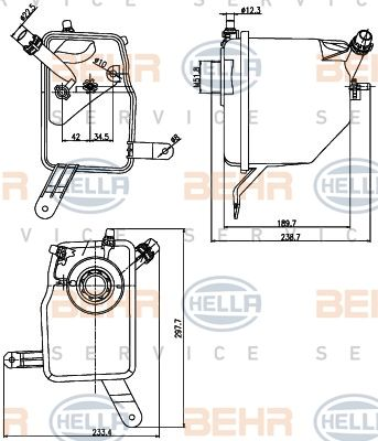 Genuine BEHR BMW Engine Radiator Coolant Water Expansion Tank