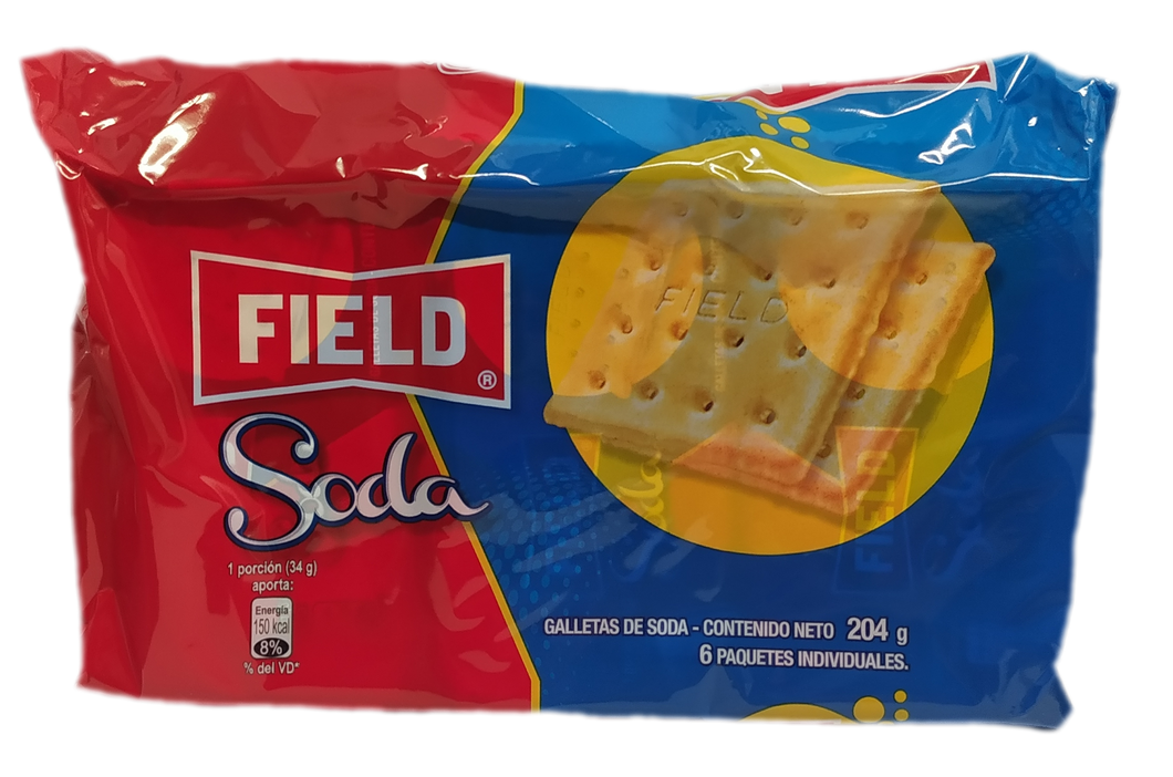 Field Soda Salted Crackers 6 Packs