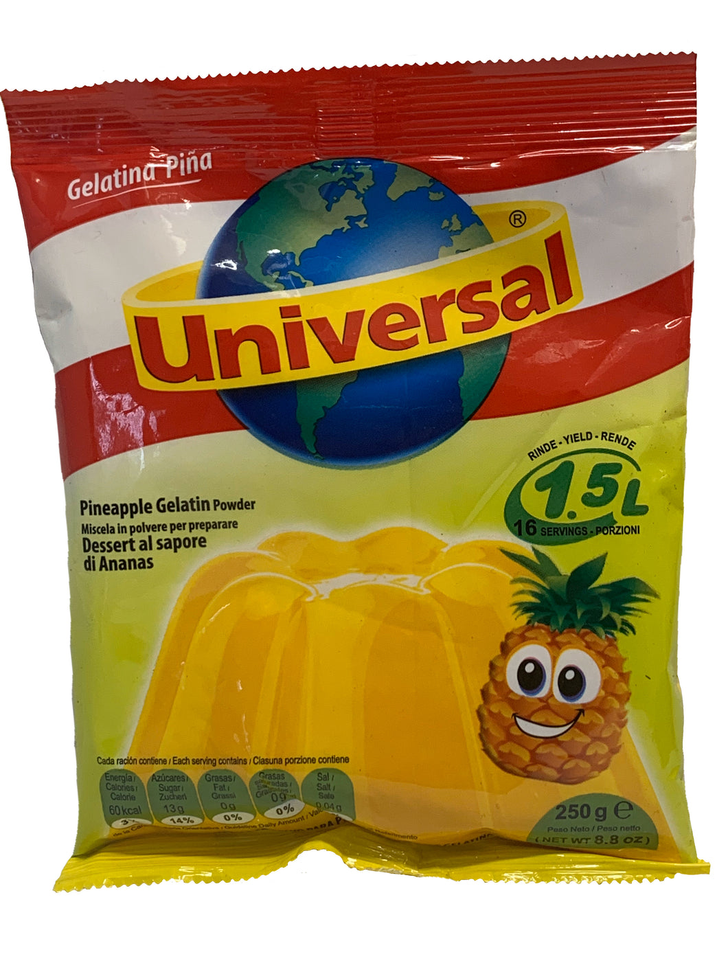 Universal Jelly Pineapple Flavour 250g