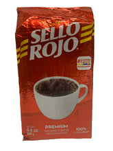 Load image into Gallery viewer, Sello Rojo Roast & Ground Coffee/Cafe Tostado y Molido 250g