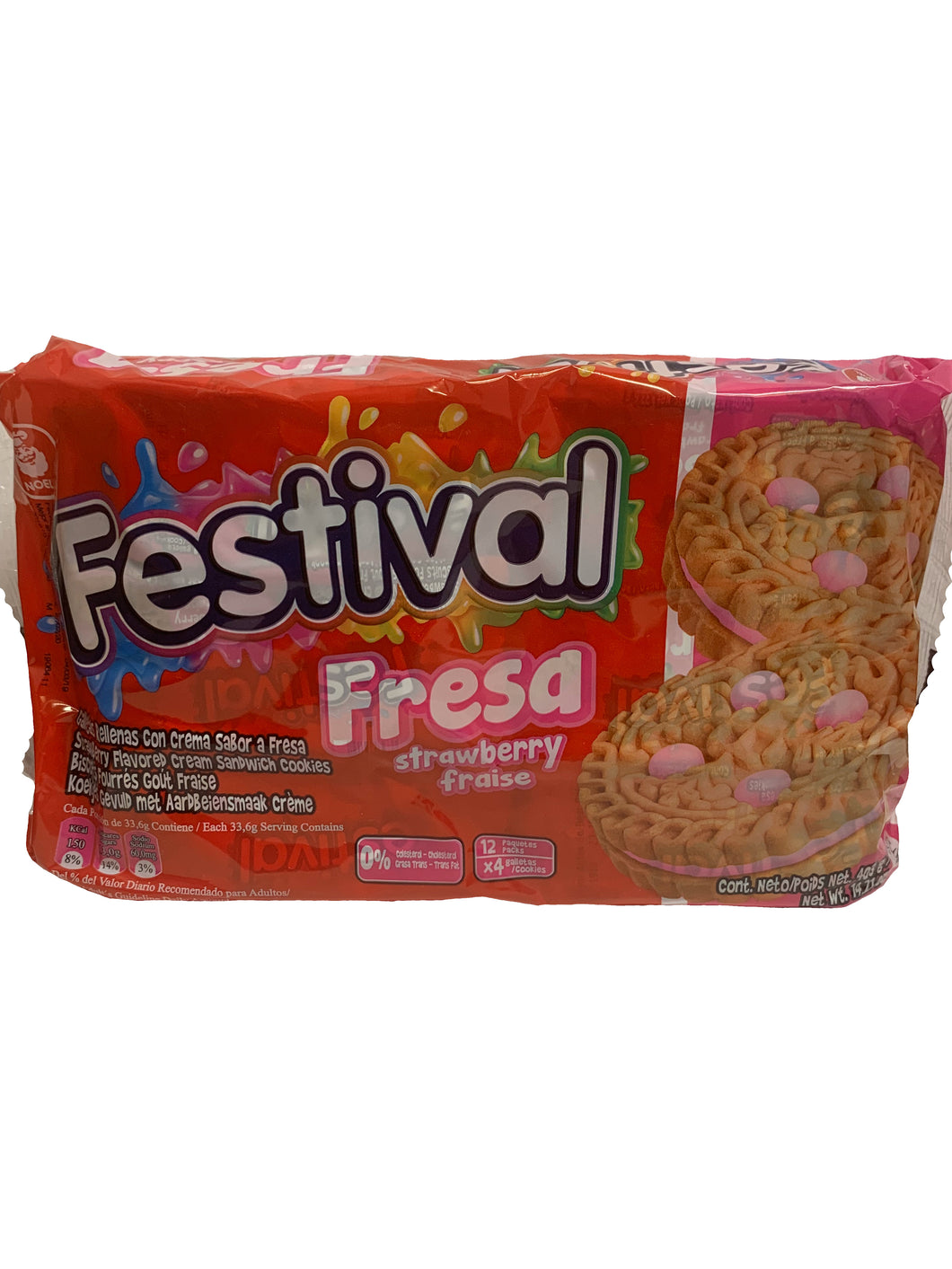 Festival Strawberry Biscuits 12 Packs