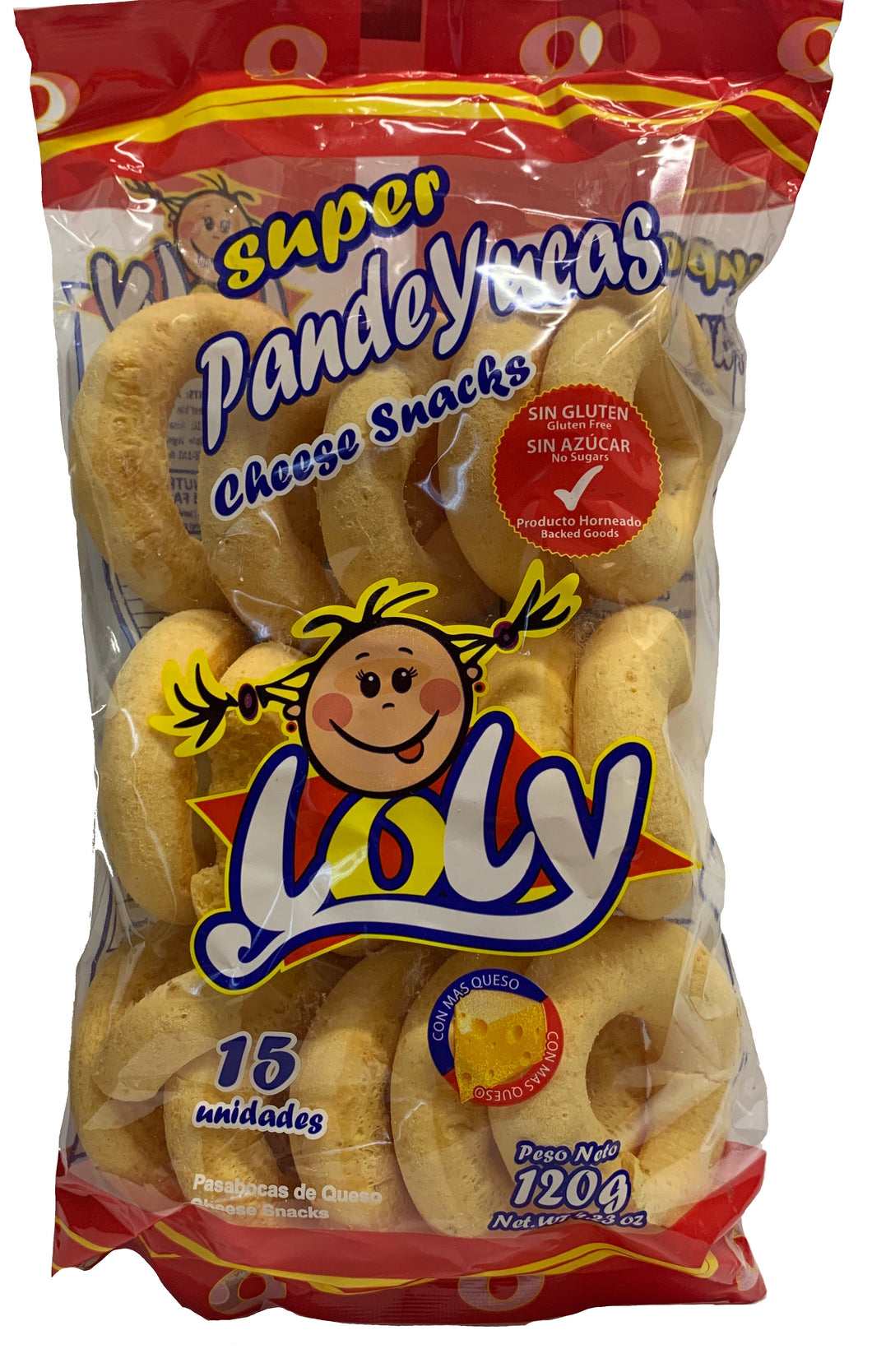 Loly Super Pandeyucas Cheese Snack 120g