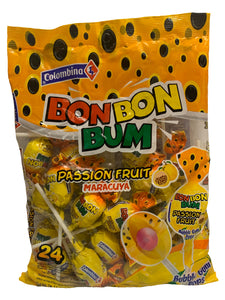 Bon Bon Bum Passion Fruit Lollies Pack of 24