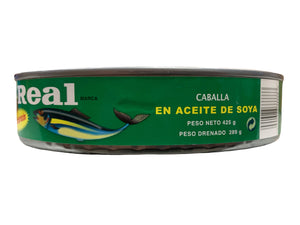 Real Mackerel Fish in Soya Oil 425g