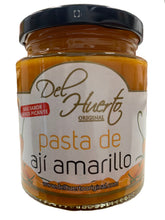 Load image into Gallery viewer, Del Huerto Aji Amarillo Chilli Paste - Pasta de Aji Amarillo 212g