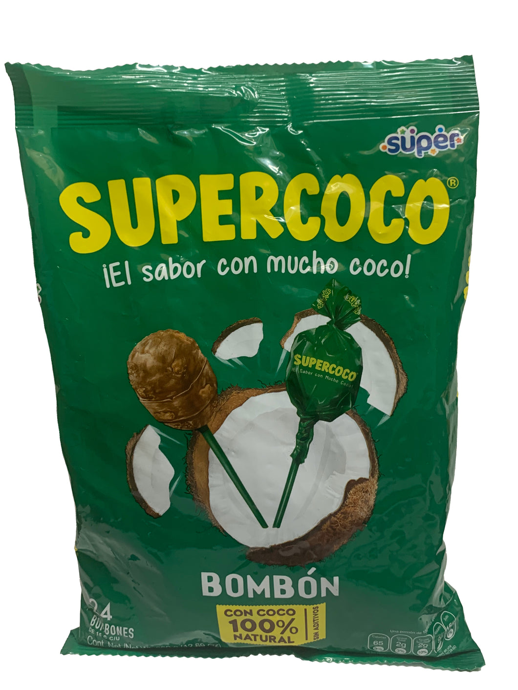 Bombon Supercoco Lollies 24 Pack