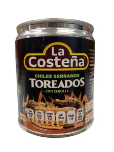 La Costena Fire Roasted Whole Peppers Toreados 220g