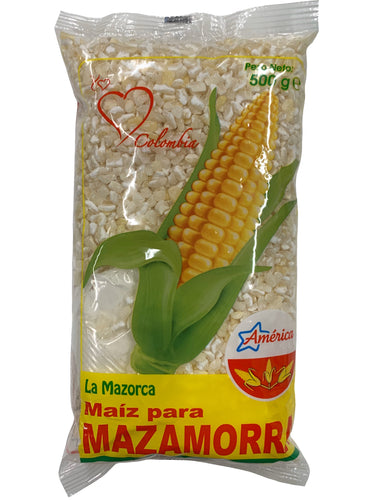 America White Corn Maize - Maiz Blanco Para Mazamorra 500g