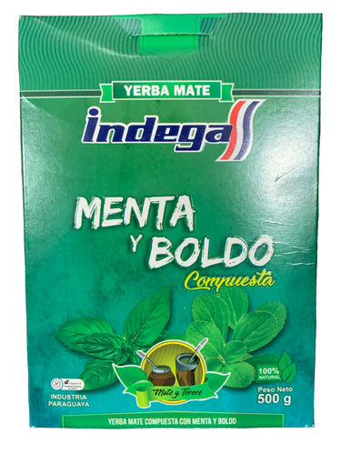 Indega Yerba Mate Mint & Boldo 500g
