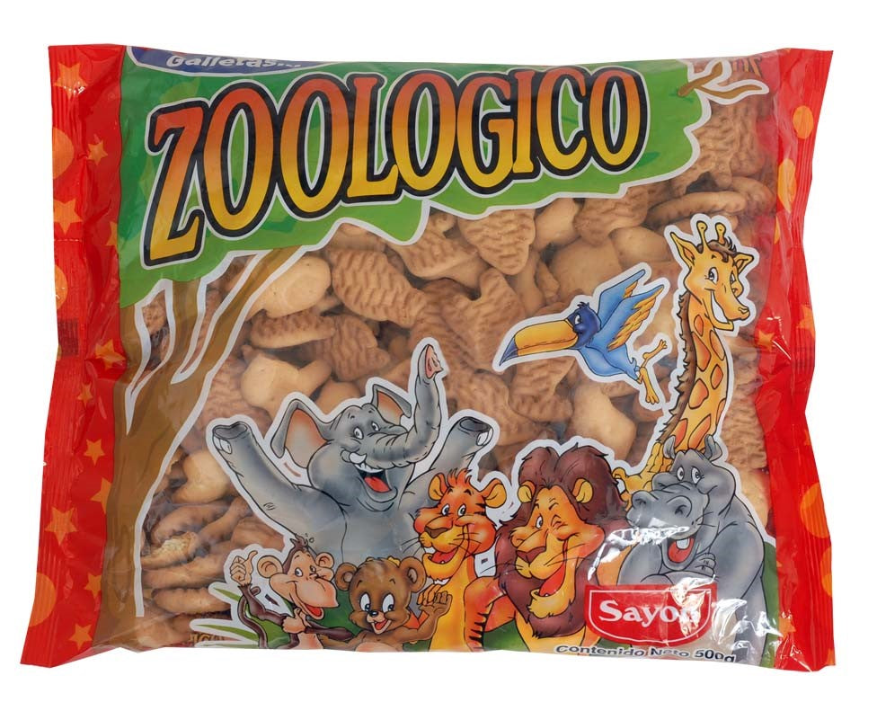 Sayon Zoologico Biscuits - Galletas Animalitos 750g