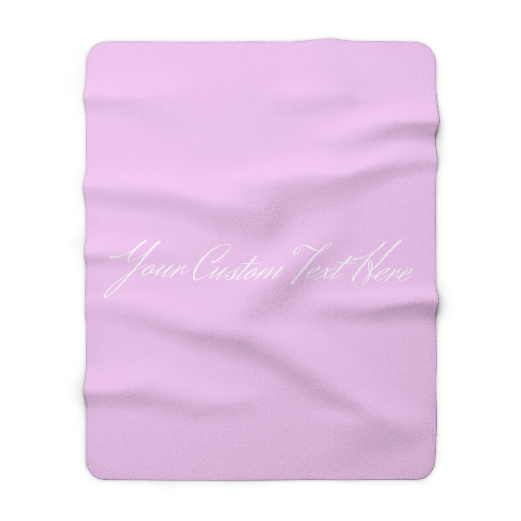 Personalized Sherpa Fleece Blanket