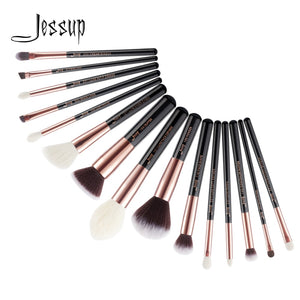 15pcs Wood Makeup Brush Set