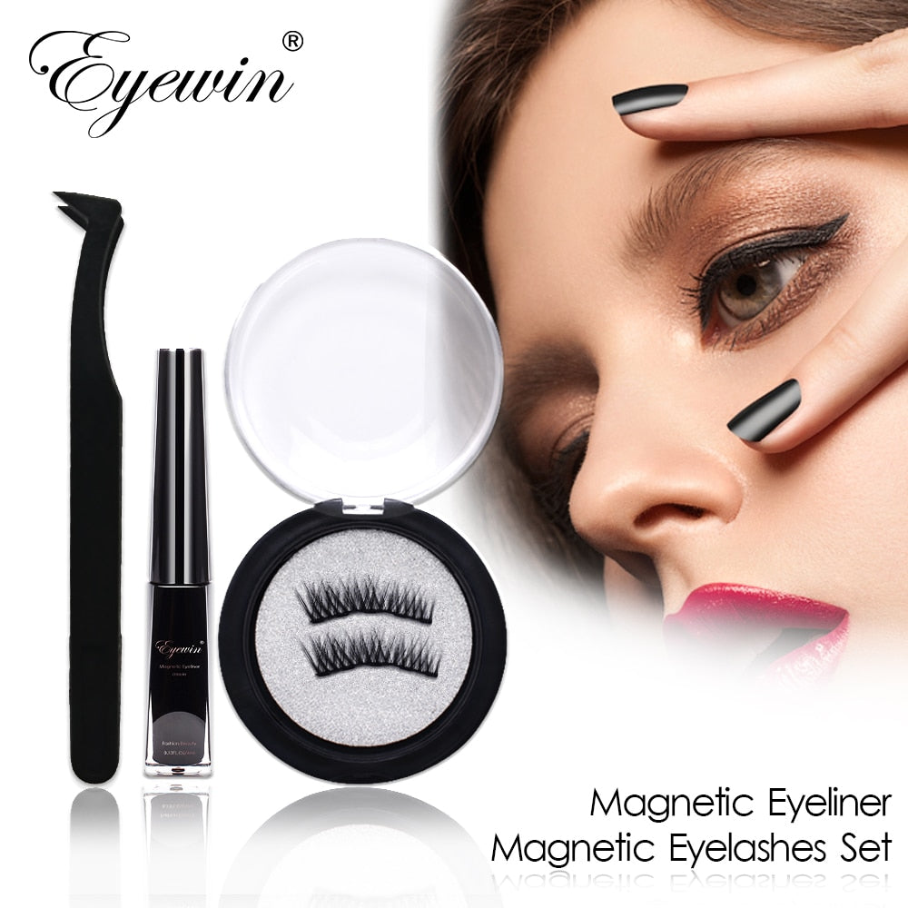 Magnetic Eyeliner & Magnetic Eyelashes Makeup Set