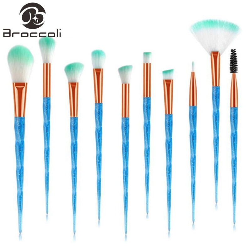 8 / 10pcs Diamond Handle Makeup Brush Set