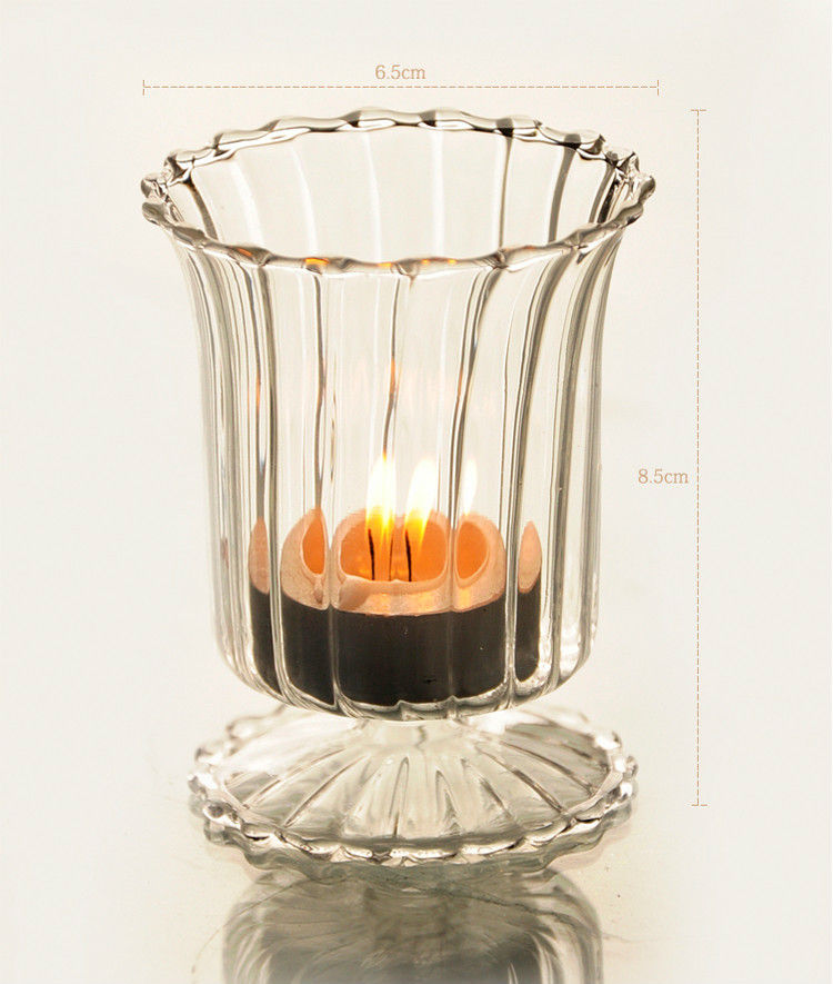 Candelabrum Cup Glass Candle Stick
