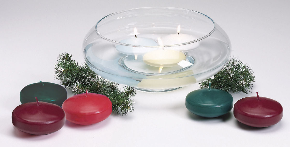 Unscented Floating Candle Disk Ivory